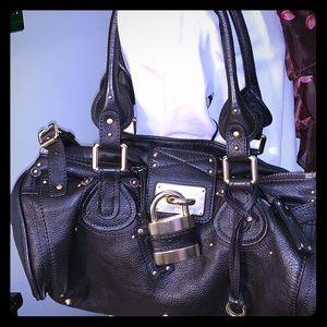 Chloe Plush leather handbag